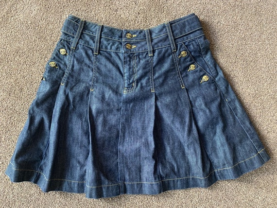 Vintage pleated denim skirt by Oasis size UK 12