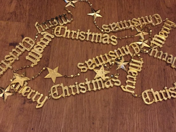Vintage Merry Christmas garland/tree decoration/chain