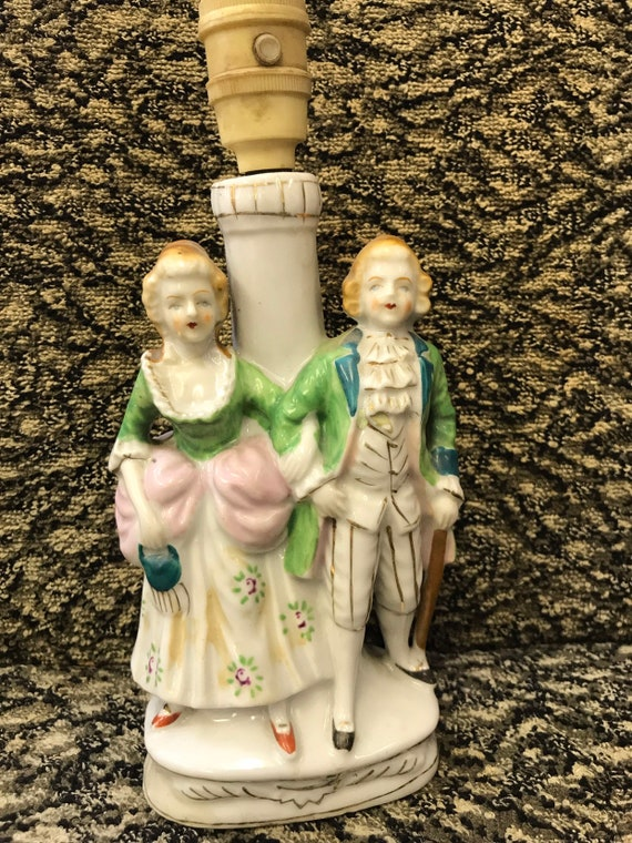 Antique figurine lamp made in Japan, needs rewiring