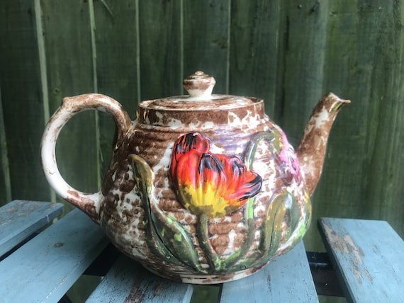Vintage floral teapot by Lingard and Webster