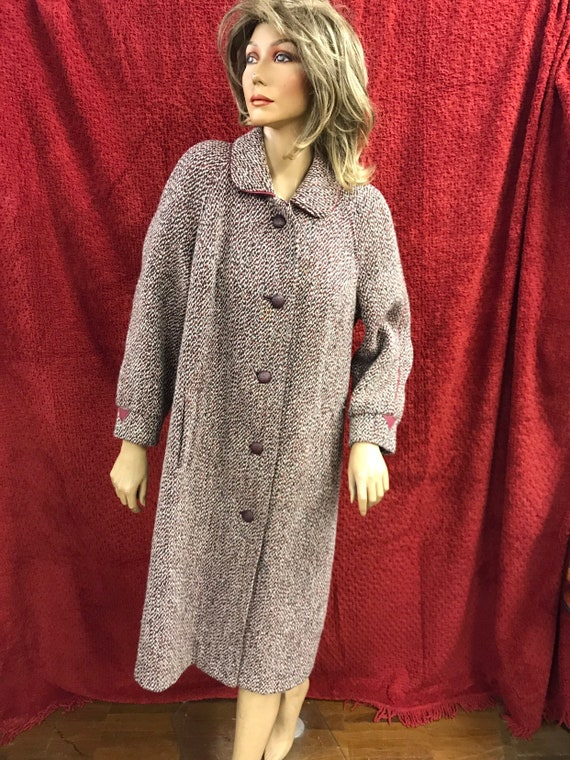 Vintage 1980's wool womens coat size 14 by Eastex