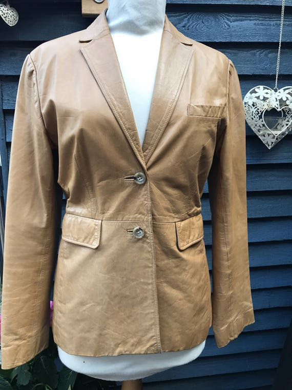 Lovely soft vintage leather jacket size S