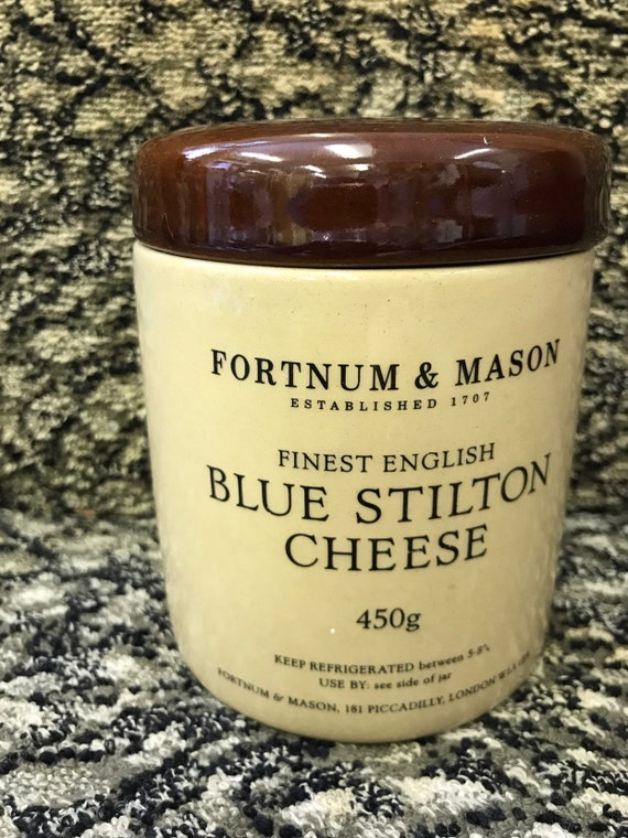 Vintage Fortnum and Mason Blue Stilton Cheese Jar