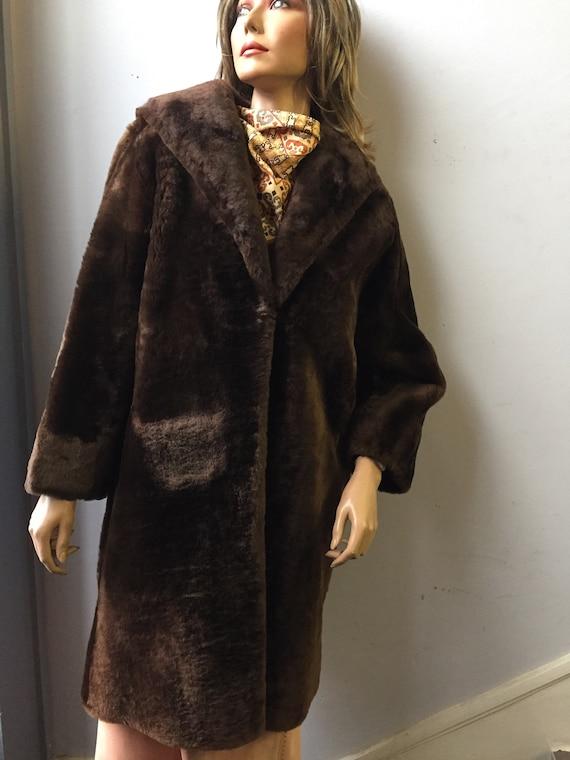 Vintage Beaver fur coat size uk 12