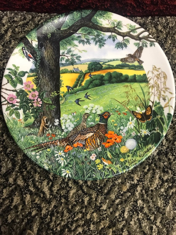 Wedgewood plate 'Meadows and Wheatfields'