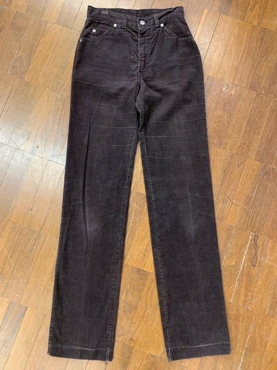 "Vintage rare brown courdroy Levis size 28"" waist"