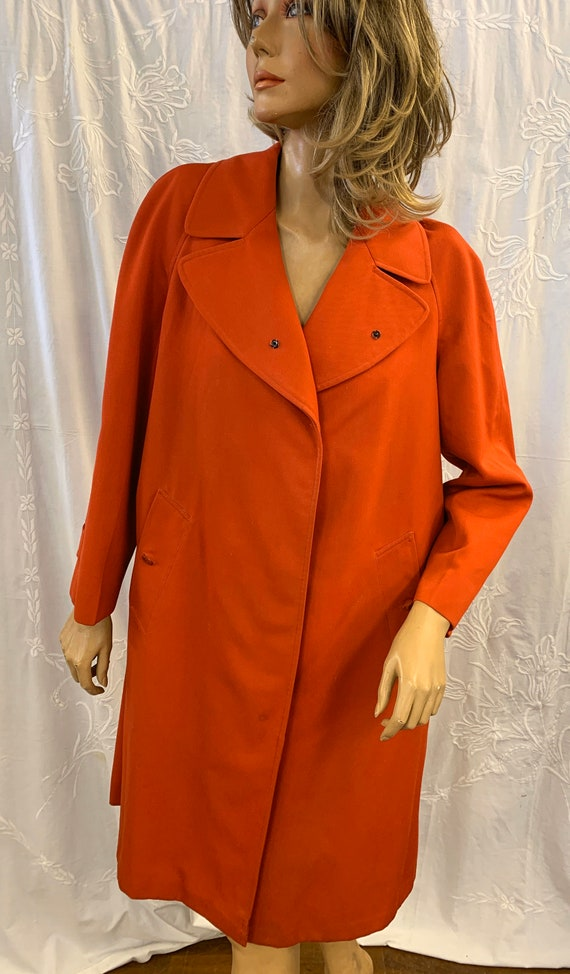 Vintage Burberry 1950's Red Rain Coat/Mac  Size 16