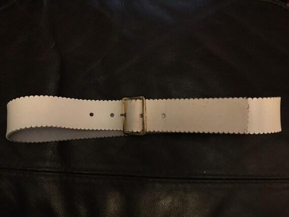 1960s leather belt