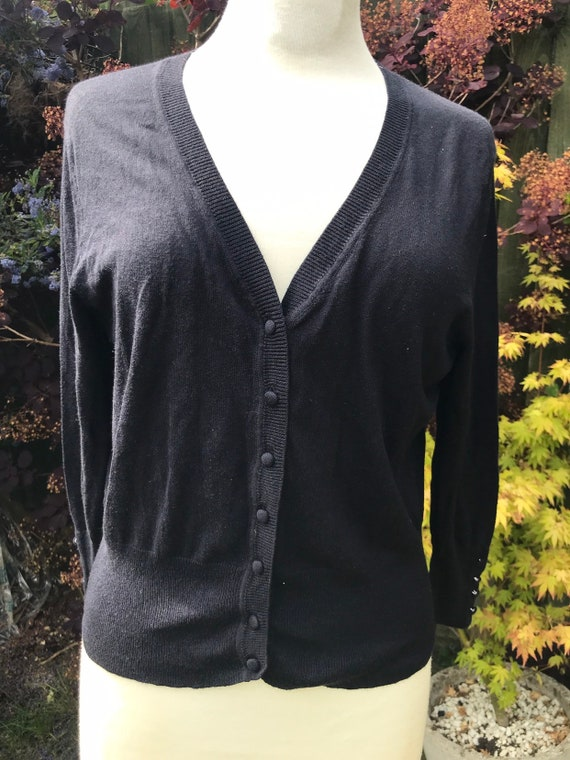 Gorgeous Vintage Hobbs silk and  cashmere cardigan size 14