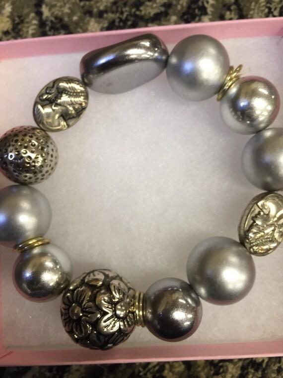 Large handmade beaded bracelets