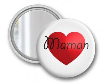 Pocket mirror love MOM