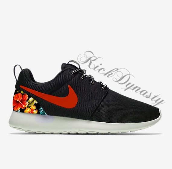 pretty nice 845d1 806b6 ... low price sale hawaiian tropical floral nike roshe run custom sneakers  etsy 12bcb 4a103