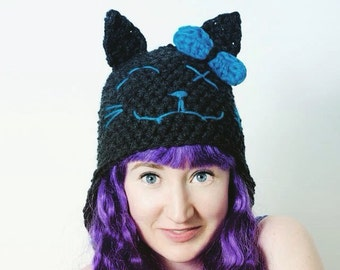 Girls Pussy Cat Novelty Character Fairy Winter Hat
