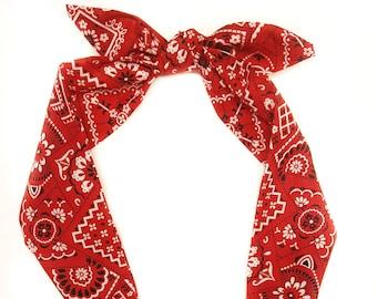Red Bandana headwrap c0561cb6d5c