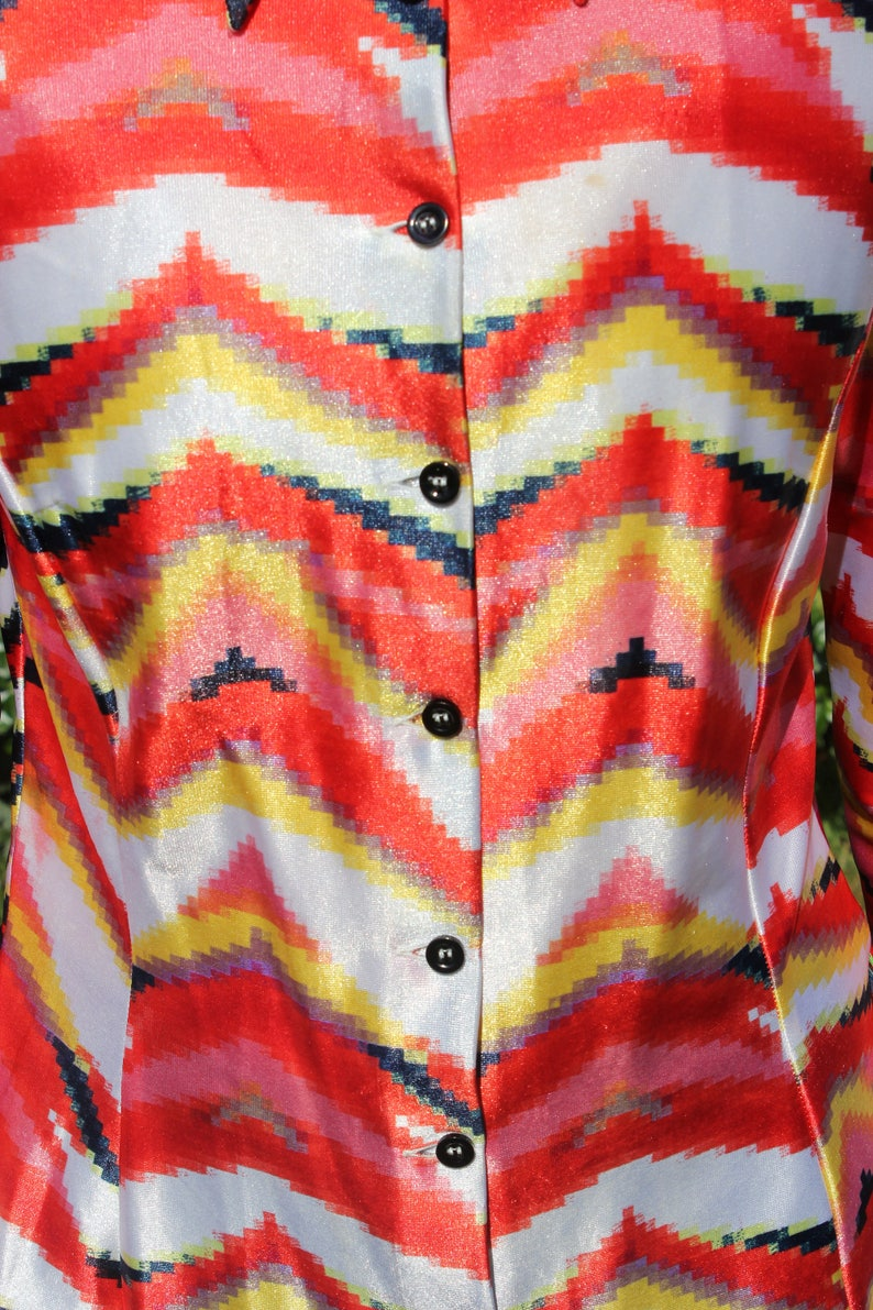 authentic REPLAY vintage shirt with big collar size M