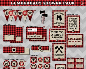 Lumberjack Baby Shower Etsy