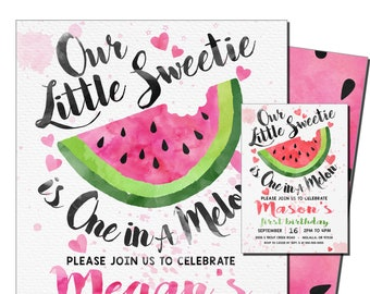 watermelon invites etsy