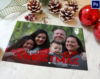 photo christmas card template photoshop template instant download photographer template commercial use - Photoshop Christmas Card Templates