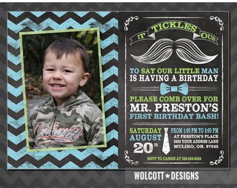 Mustache invitation etsy little man birthday invitation mustache invitation chalkboard first birthday photo filmwisefo