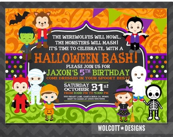Kids Halloween Party Etsy