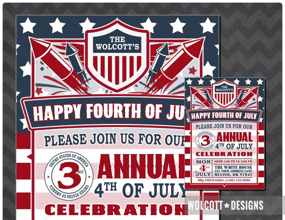4th of july party invitation fourth of july party invitation 4th