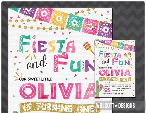 fiesta birthday invitation spanish birthday invitation fiesta and