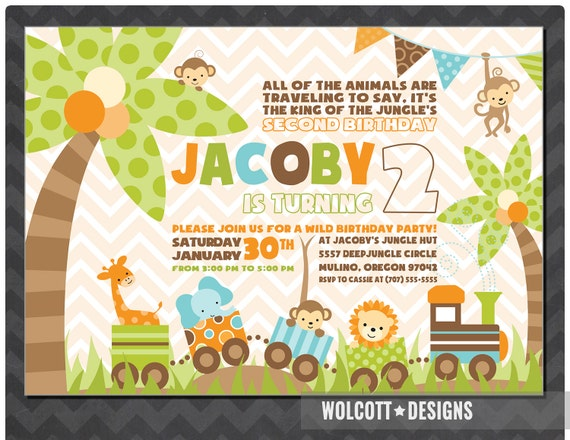 JUNGLE BIRTHDAY INVITATION Jungle Invitations Animal