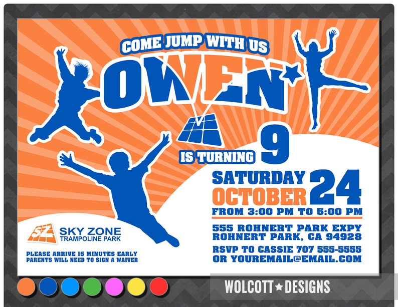 Trampoline Party Invitation Bounce House