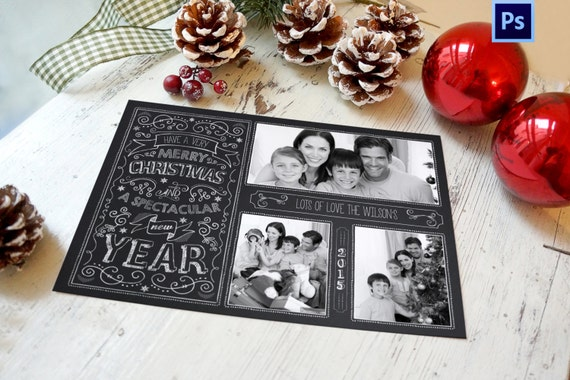 Christmas Card Template Chalkboard Christmas Card Photoshop Template Instant Download Photographer Template Commercial Use By Wolcottdesigns Catch My Party