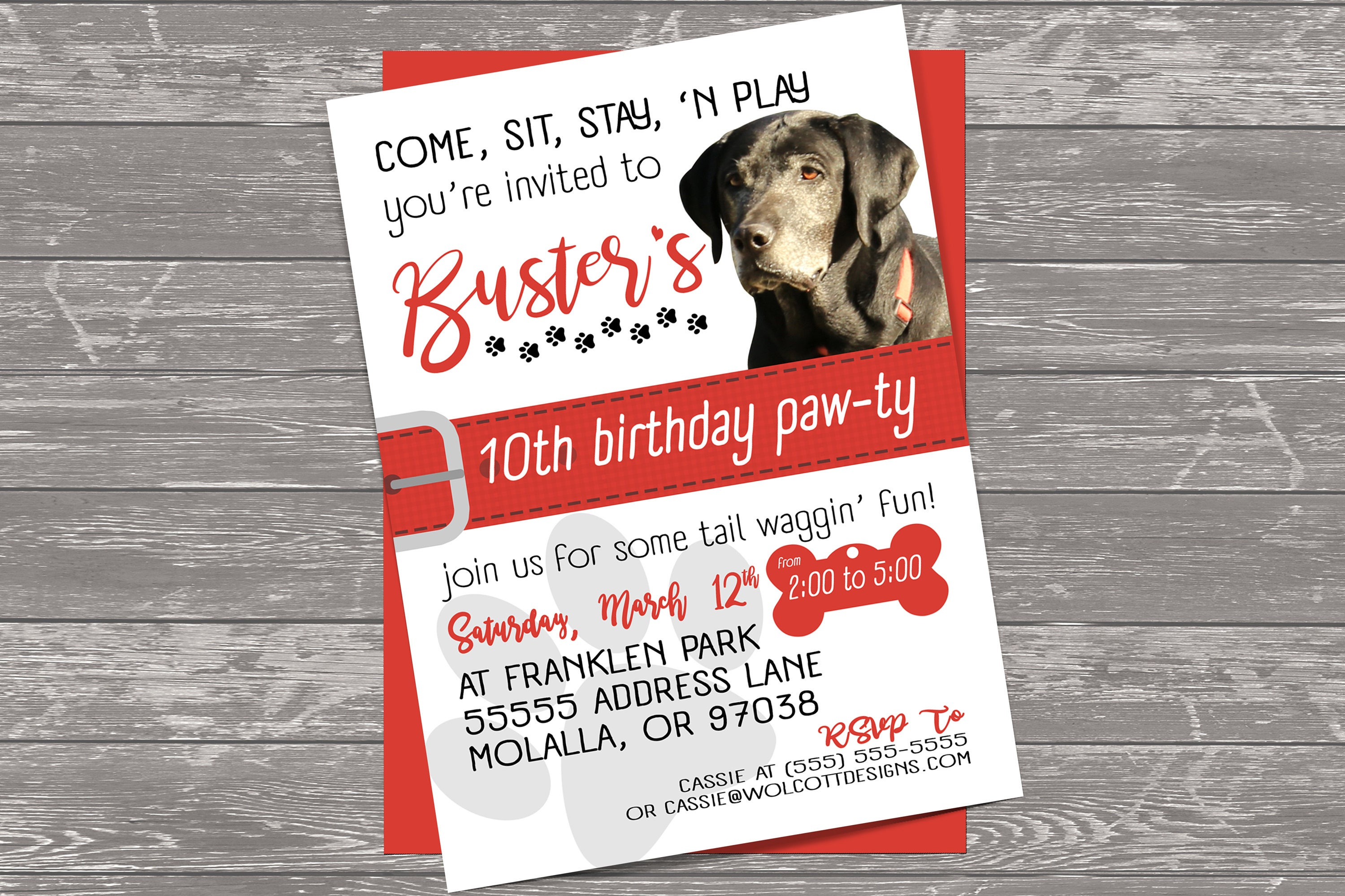 Contemporary Puppy Party Invites Image - Invitations and ...