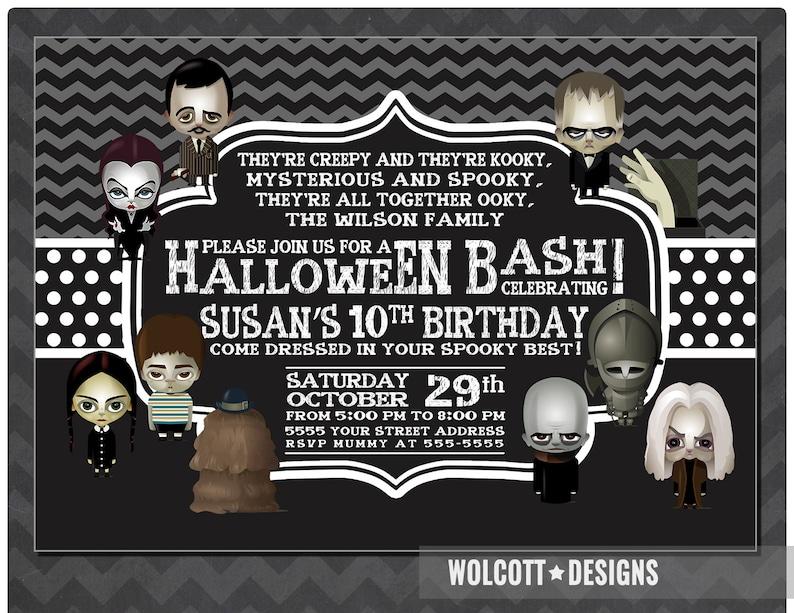 Addams Family Halloween Party.Halloween Birthday Invitation Addams Family Halloween Party Invitation Halloween Birthday Party Halloween Birthday Party Invitation