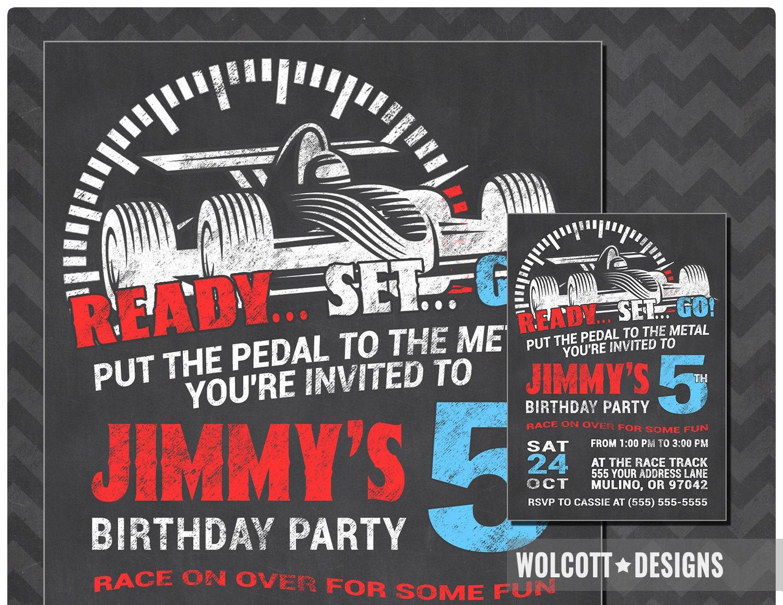 Dorable Nascar Party Invitations Ornament - Invitations Design ...