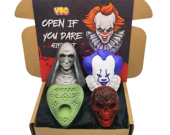 Horror Bath Bomb Gift Set, Scary Bath Bomb, Halloween Gift Set, VBC.Life, Bath Bombs, Vegan, Cruelty Free, Soap Gift Set, Bath Fizzer