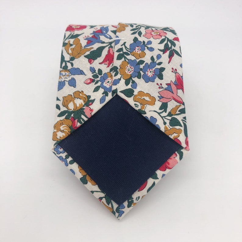 Matching Cufflinks available Liberty Tie in Pink Blue Green Gold Floral