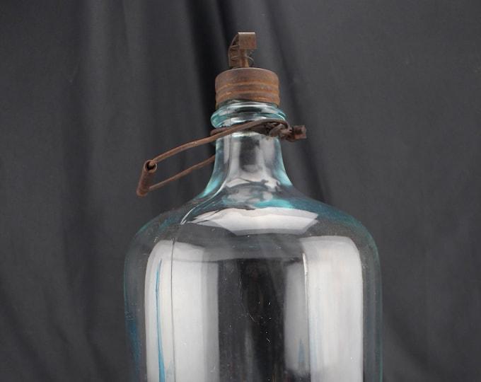 Owens-Illinois 2_Gal Aqua Blue Kerosene Bottle/Disperse 1932 Diamond T Mark