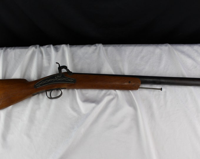 Antique 1800's Toy Percussion Rifle Childs Black Powder Blunderbuss Handmade