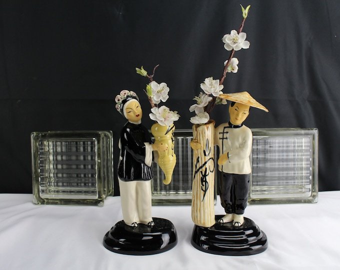 Vintage Ceramic/Pottery Figurines Joy Ming Ho-Jai By Walter Wilson California Japanese