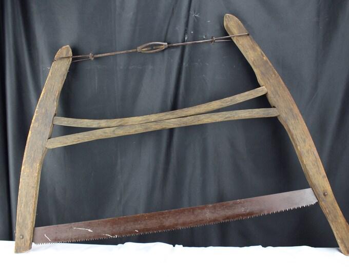Antique Bow Saw Christmas Tree Saw Cross Cut Saw Woodsman Tool
