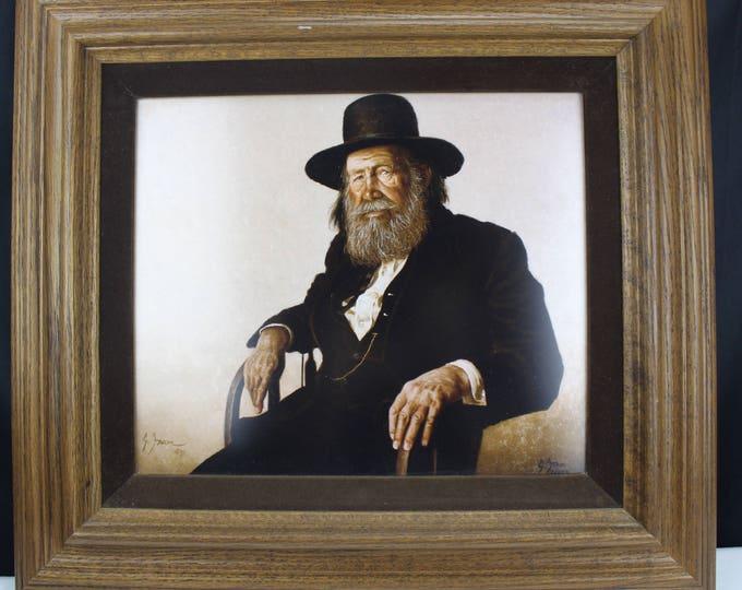 Fine Art print Gerald E Farm 1935- Portrait Old Man #2/250 Signed Medium