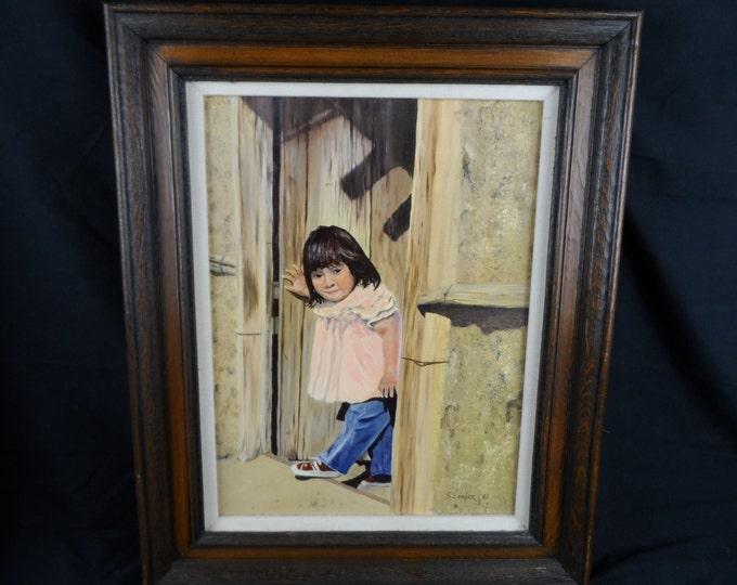 Fine Art Oil Painting on Canvas, Original, Signed, Child, Realism, Southwestern