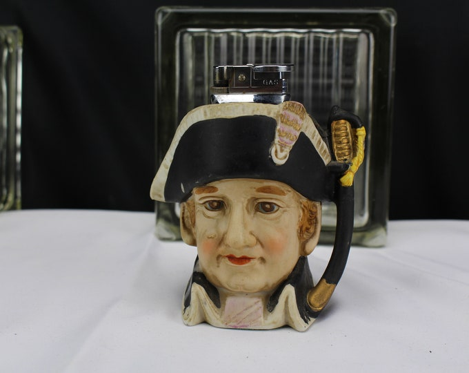 Vintage Table Lighter Figurine Toby Jug Tobacciana