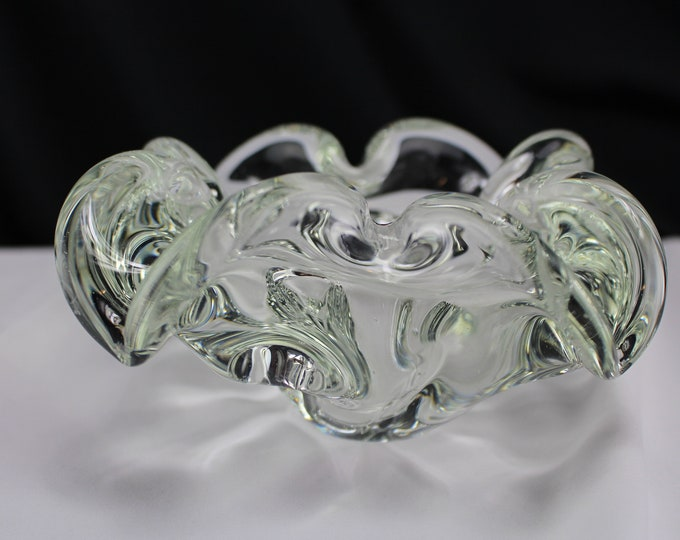 Vintage Murano-Barovier and Toso Sommerso-Clear Bowl/Candy Dish Bowl