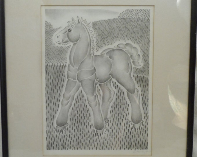 Art-Original Pencil Drawing-Illistration from The Shire Colt by Zheya Gray-Tutt Estate