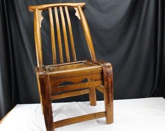 Antique CHINESE SCHOLARu0027S Chair Yoke Back Fishing Chair Qing Dynasty (1800-1849) & Yoke back chair | Etsy