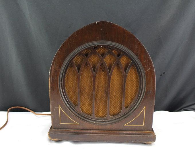 Antique Bosch Radio Speaker Cathedral Shape Model 612 Pat. 1918 Home Audio