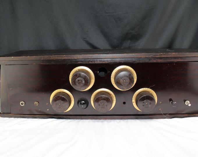 Antique Wright Radio Mfg. Co. Saint Paul Minn 1920's Battery Tube Type