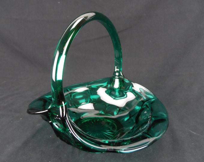 "TIARA Teal Blue Green,Constellation Basket - Glass Handler ""M.R"" Mint Condition"