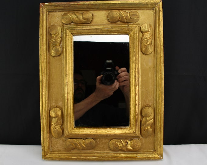 Antique Vintage Wall Mirror Gold Gilt Wood Frame Wall Decor