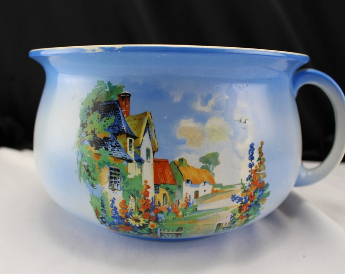 Sunnyside Crownford Burslem England: Pottery, Porcelain Chamber Pot 1930's