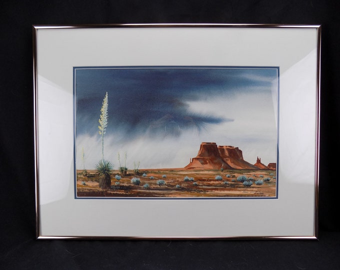 Fine Art Original Watercolor Monument Valley Navajo Nation's Parks, Mike Simpson Montrose Co. Simpson Gallery